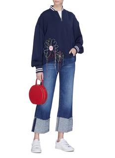 Mira Mikati Floral appliqué track jacket