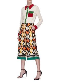 Gucci Sequin bow trompe l'œil silk shirt