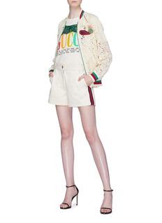 Gucci Web stripe outseam shorts