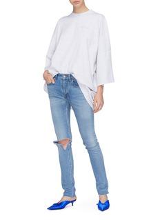 Balenciaga Ripped knee skinny jeans