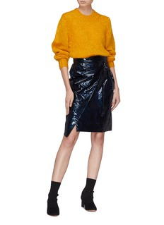 Isabel Marant 'Eoji' waxed wrap skirt