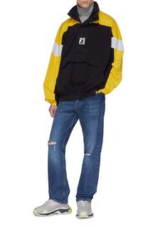 Balenciaga Retractable hood colourblock oversized hoodie