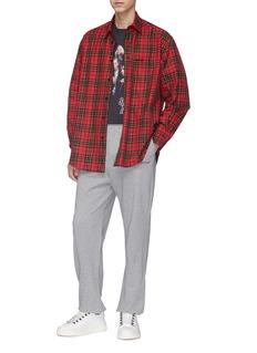 Balenciaga 'Self' chart print tartan plaid twill shirt