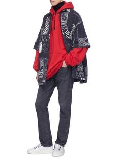 Balenciaga Graphic print oversized short sleeve shirt jacket