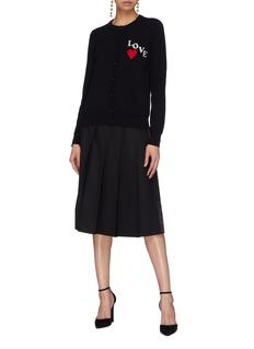 Dolce & Gabbana 'Love' slogan intarsia cashmere cardigan
