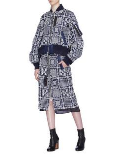 Sacai x Reyn Spooner floral embroidered bomber jacket