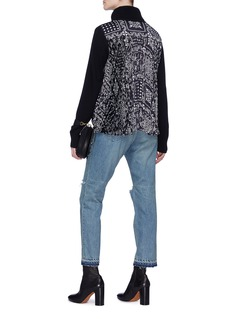 Sacai x Reyn Spooner floral print pleated back turtleneck sweater