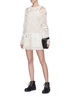 Sacai Guipure lace rompers
