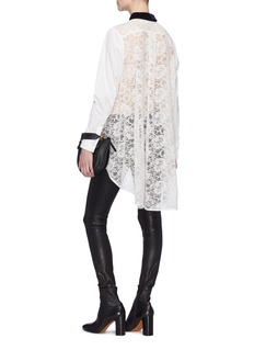 Sacai Guipure lace back shirt