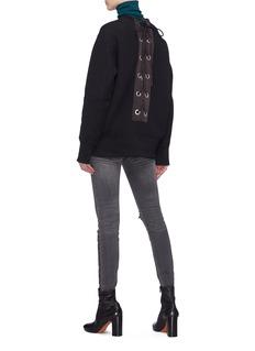 Sacai Lace-up back sweatshirt
