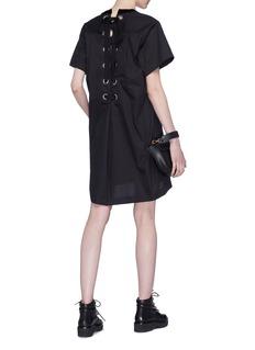 Sacai Lace-up back T-shirt dress