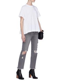 Sacai Pleated side zip T-shirt