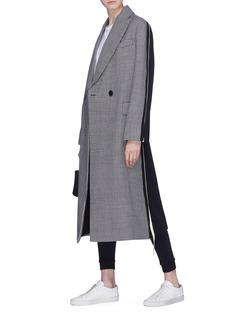 Stella McCartney Colourblock houndstooth oversized wool coat