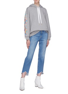 Stella McCartney 'All Is Love' fringe slogan appliqué hoodie