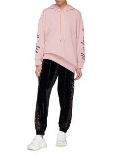 Stella McCartney 'All is Love' slogan embroidered sweatshirt