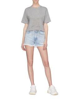 Stella McCartney Ripped denim shorts