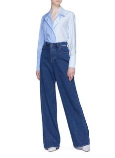 Stella McCartney Button placket stripe panel bib shirt