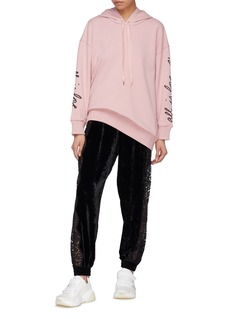 Stella McCartney Lace outseam velvet jogging pants