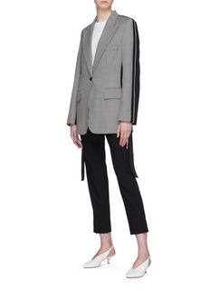 Stella McCartney Colourblock chevron stripe wool blazer