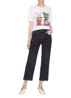 Stella McCartney Star embroidered straight leg jeans