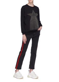 Stella McCartney Beaded star fringe sweatshirt