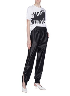 Stella McCartney 'Alicia' zip outseam faux leather pants