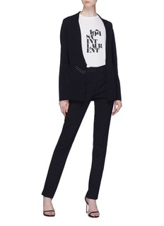 Stella McCartney Belted notched lapel blazer
