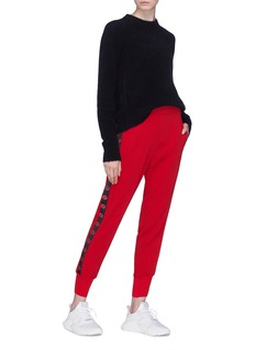 Stella McCartney Logo stripe outseam jogging pants