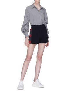 Stella McCartney Logo stripe outseam shorts