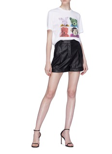 Stella McCartney Pleated faux leather shorts