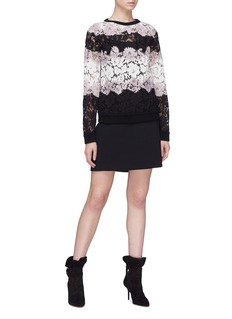 Valentino 'Macro Bayadère' floral lace top