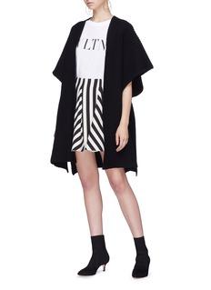 Valentino 'Stripes Re-edition' godet virgin wool-silk skirt