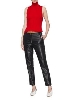 Victoria Beckham Colourblock cow leather pants