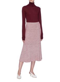 Victoria Beckham Mélange rib knit skirt