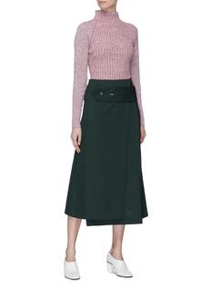 Victoria Beckham Polo neck rib knit sweater