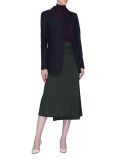 Victoria Beckham Oversized notched lapel virgin wool blazer