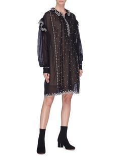 Isabel Marant Étoile 'Emma' scalloped ruffle embroidered dress