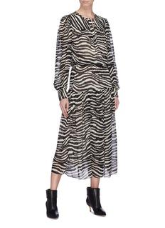 Isabel Marant Étoile 'Jina' belted zebra print dress