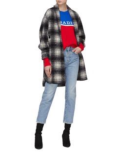 Isabel Marant Étoile 'Gabrie' check plaid melton coat