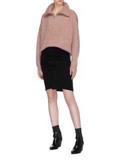 Isabel Marant Étoile 'Cyclan' mohair blend half-zip high neck sweater