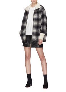 Isabel Marant Étoile 'Gimo' check plaid melton coat