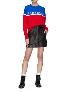 Isabel Marant Étoile 'Alynna' zip front leather skirt