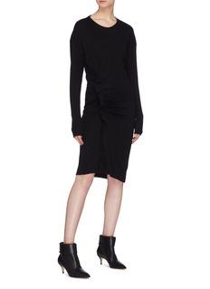 Isabel Marant Étoile 'Jeneth' gathered ruffle wool knit dress