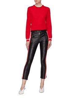 Isabel Marant Étoile 'Aya' stripe outseam leather pants