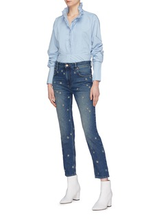 Isabel Marant Étoile 'Cliffy' star embroidered jeans
