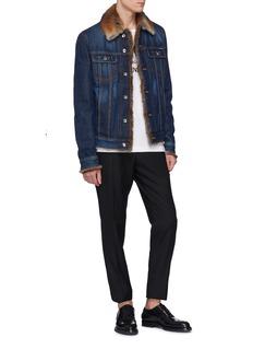 Dolce & Gabbana Fur collar denim jacket
