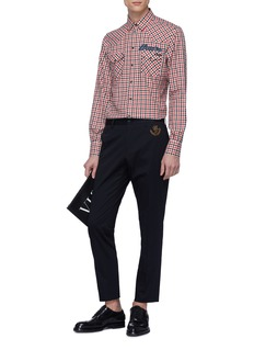 Dolce & Gabbana 'Paradiso' appliqué gingham check twill shirt