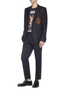 Dolce & Gabbana 'Martini' crest embellished virgin wool crown jacquard blazer