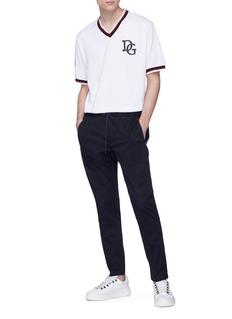 Dolce & Gabbana 'King' logo print baseball T-shirt