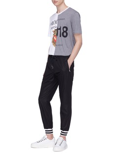 Dolce & Gabbana Colourblock slogan print T-shirt